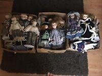 Vintage porcelanie dolls