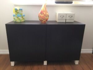 Sideboard - 2 dark brown cabinets from Ikea
