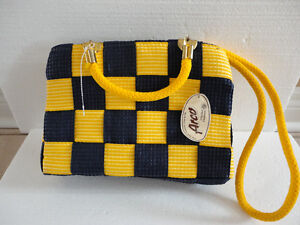 Brand new with tags women's yellow/blue colour block purse London Ontario image 1