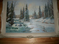 LRG. FRAMED OIL PAINTING by anna. (lived in Muskoka) reduced!