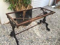 Old cast iron table frame for restoration