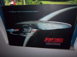 Star Trek Next generation Wall picture with led lights