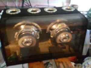 """Dual 10"""" Subs woofers in a ported box."""