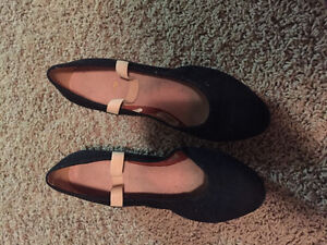 Black Character Ballet Shoes