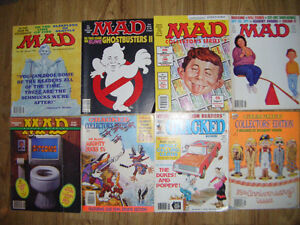 8 Collectible Mad Magazines for sale