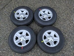 2017 Jeep Wrangler OEM Wheels and 225/75/16 Goodyear Tires..NEW