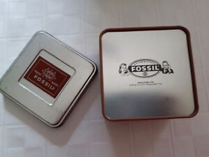 Vintage Fossil Watch Box