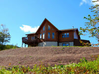 Beautiful Log Home with Ocean View!