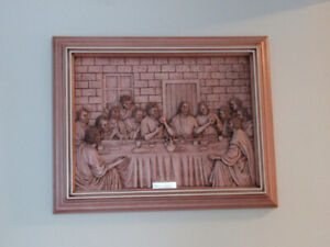 """3D Carving Of The Last Supper 19""""X15"""""""