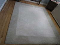 ALL WOOL Cream Area Rug 10ft x 8ft with underlay Pottery Barn