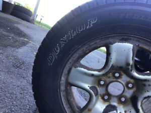 One tire on rim in great condition