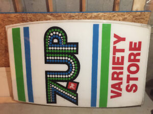 ••REDUCED••. 7 up variety store sign