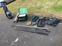 Job lot fishing gear and golf clubs