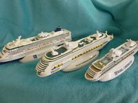 3 miniature ships-great Christmas gift idea for someone