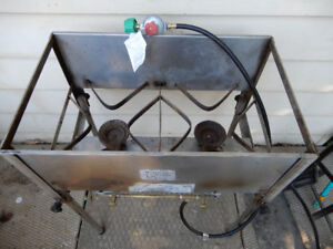 Bubba's Bar-B-Q Two (2)-Burner Cooker/Fryer, Stainless Steel,