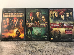 Pirates of the Caribbean - 1,2,3 DVDs