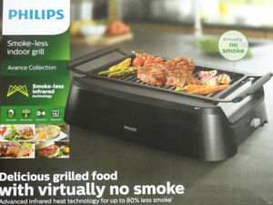 Philips Smoke-less Indoor Barbecue Grill - NEW-NEVER USED