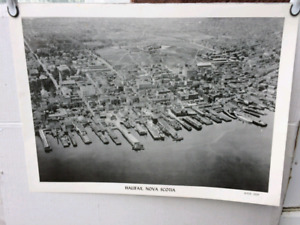 Black and White Poster of DND in Halifax, NS in 1929 Aerial View