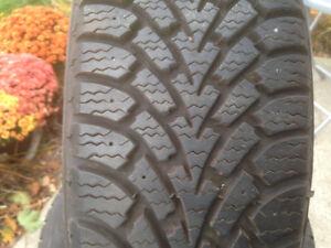 P195/65R15 Goodyear Snow Tires On Rims