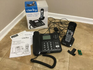 Cordless Phone Combo with Answering MachineAmplified