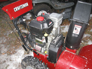 9.5 hp snow blower few years old 27 inch