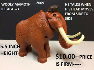 McDONALDS WOOLY MAMMOTH FIGURINE TOY