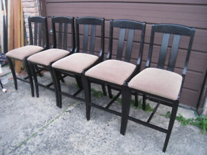 5 Solid Wood Bar/Counter Stools Dining Chairs, delivery extra $$