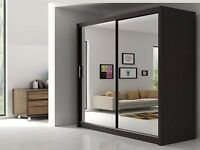 Paris Full Mirror Designer sliding Wardrobe ,All colours and sizes Available ,Fast Delivery