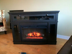 Electric Fireplace & Media Console