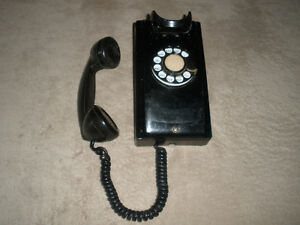 Vintage NORTHERN ELECTRIC Black Wall Phone London Ontario image 2