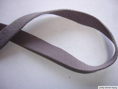 10m Gummiband 0,23€/m graubraun  10mm breit TA4