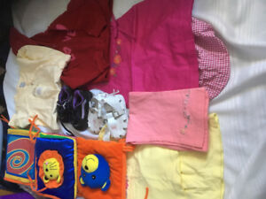 Lot of girls  infant/toddler clothing plus play mat