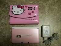 Nintendo 3DS XL Pink with games and carrying case