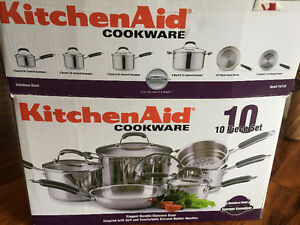 Kitchen aid pots and pans set