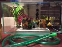 Modern fish tank 29L with all extra