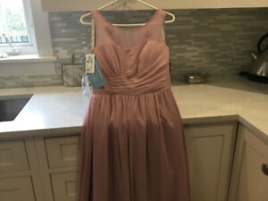 New Bridesmaid Dress and Flower Girl Alfred Angelo sz 10 Blush