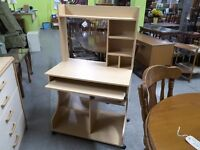 SALE NOW ON!! Computer / Office Desk With Shelves - Can Deliver For £19