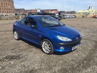 "PEUGEOT 206cc 2.0 """"CONVERTIBLE""""ALLOYS ELECTRIC WINDOWS/MIRRORS"