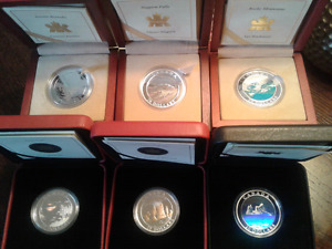 2003-2005 CANADIAN NATURAL WONDERS 6 COIN COLLECTOR SET