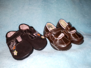 2pr Toddler Baby Girls Shoes Size 2