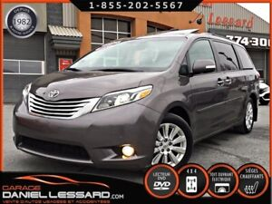 Toyota Sienna LIMITED, AWD, GPS, TV DVD, CUIR 7 PLACES ET PLUS 2