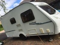 Sprite Alpine 2 2008 2 berth lightweight caravan