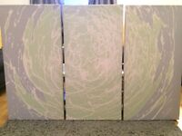Large 3 part art canvas. Cost £190.