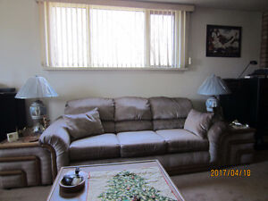 Couch with centre and end tables