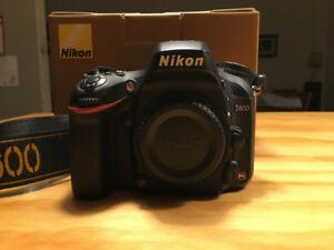 Nikon D600 full frame camera