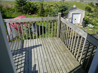Heated two bedroom in duplex with private deck