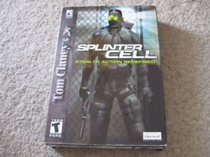 Splinter Cell-Stealth Action Redefined-3 disc Mint condition +