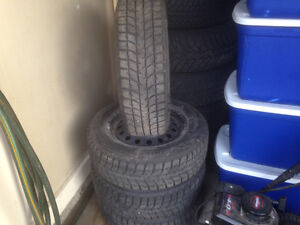 P195/65R15 Blizzak Snow Tires And Rims