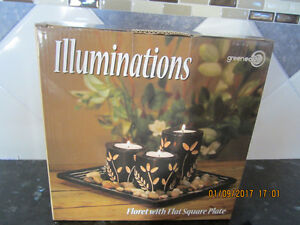 Illuminations, Floret with Flat Square Plate - (Brand New)