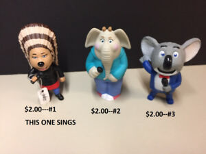 McDONALDS SINGING TOY COLLECTION FIGURINES